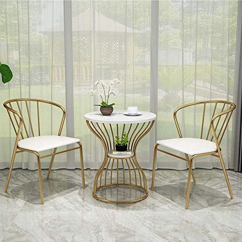 LJYY Tavolini da caffè Cerchio di immagazzinaggio Design alla Moda Mobili Decor Tavolino Rotondo per Soggiorno Cornice Dorata per Anziani Set di 2