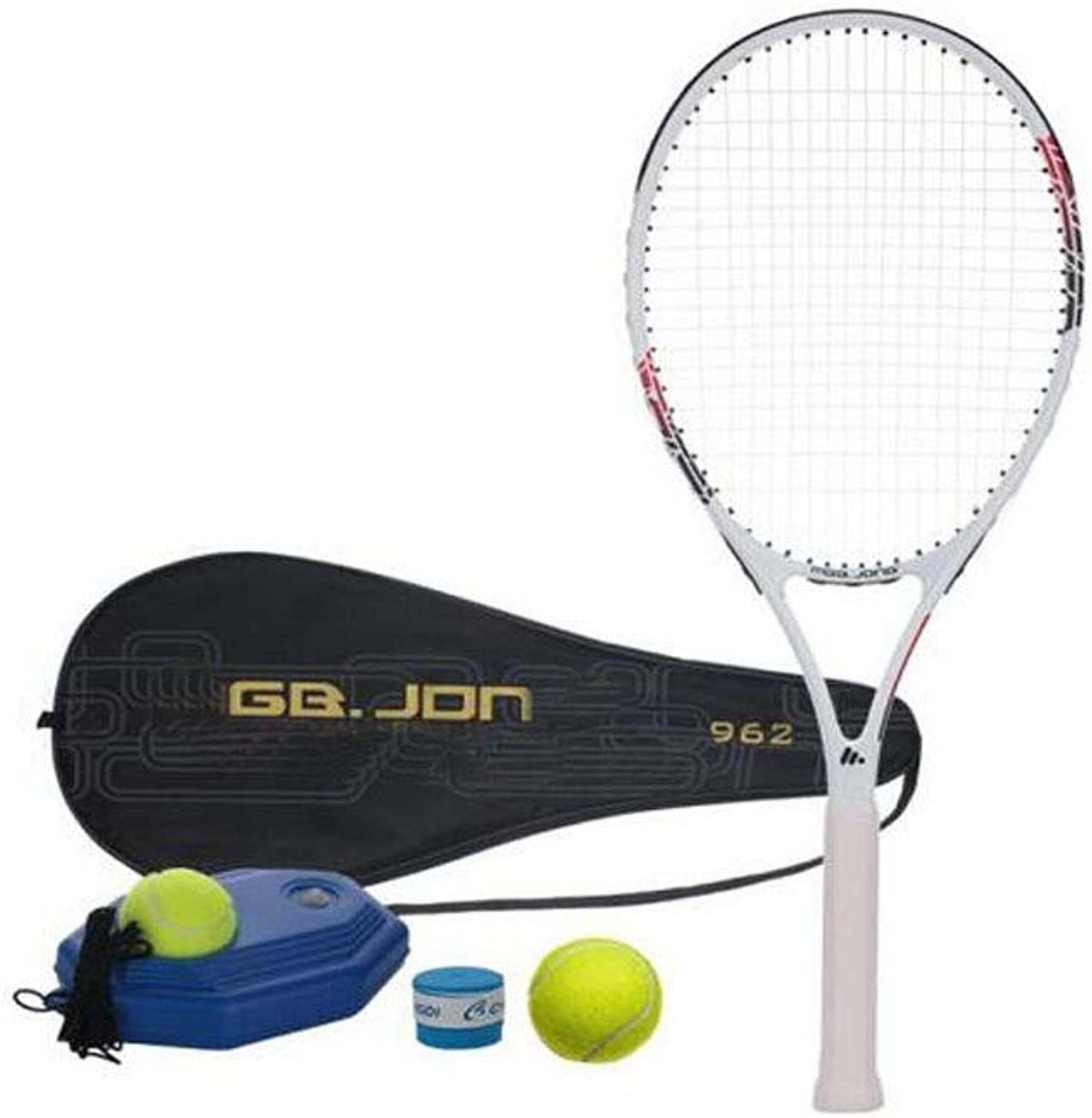 Tennis Racket, Suitable for Outdoor Sports and Fitness Tennis Racket Set, Single Beginner Training Tennis Racket Equipment White, blueee