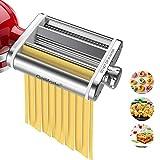 Kitchen Pasta Maker Attachment 3 in 1 Metal Set Pasta Machine