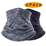 <span class='highlight'><span class='highlight'>Sfee</span></span> 2 Pack Neck Warmer Gaiter Fleece Ski Winter Balaclava for Men and Women, Winter Face Mask Scarf Tube Cover Bandanas for Cold Weather Windproof Winter Motorcycle Skiing