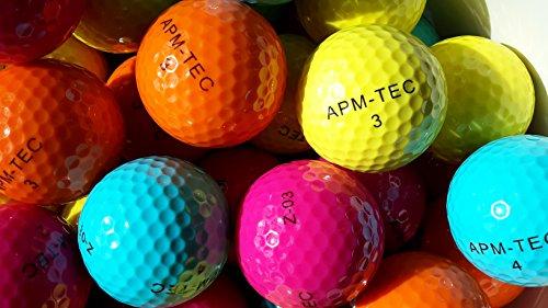 APM-TEC 4 Golfbälle, bunt, NEU, Turnierqualität, 432 Dimple Z-03