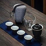 JY&WIN Teiera Set da tè da Viaggio Tazza per Ospiti Rapida Portatile Una pentola e Quattro Tazze Collezione Regalo in Stile 2