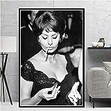 WSHIYI Poster Drucke Sophia Loren Schwarz Weiß