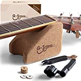 Guitar Neck Rest Support Cradle + Guitar String Winder and Cutter Tool - Guitar Accessories Tool Kit for Repair, Maintenance and Cleaning