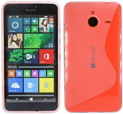 ENERGMiX S-Line TPU SchutzHülle kompatibel mit Microsoft Lumia 640XL Silikon Hülle in Transparent