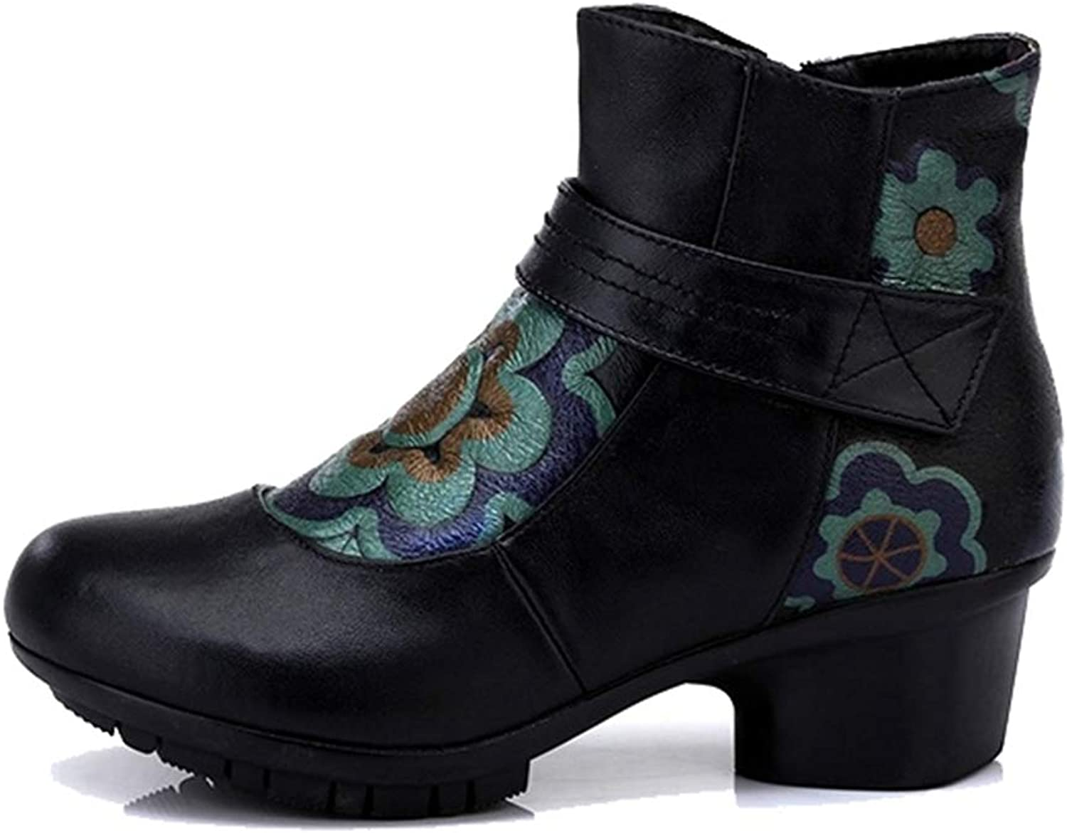 Andy Pansy Original Handmade Genuine Leather National Style Cotton Boots Short Tube with Single Boot Middle Aged Boots