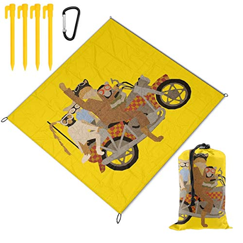 For Sale! Hucuery Picnic Blanket 59 X 57 in Fantastic Mr Motorcycle Foldable Waterproof Extra Large ...
