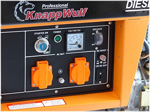 Stromerzeuger KW5500 1-Phasig 5000Watt Generator Notstromaggregat - 3