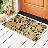 Welcome Outdoor Door Mat Non-Slip Doormats Vintage Ouija Board Skull Evil Front Door Indoor Entrance Rug Patio Entryway Pad