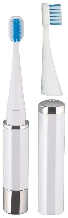 委託立方体実用的ロゼンスター マイナスイオン音波振動歯ブラシ 替えブラシ2本付き 白 TB-510W