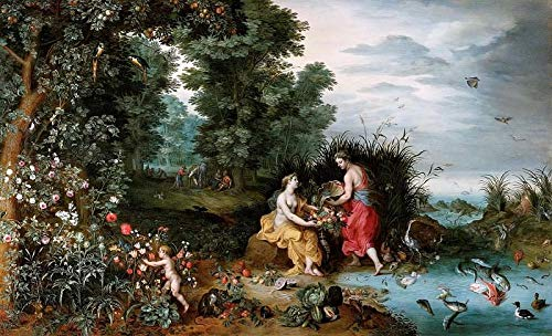 1000 Tablets Jigsaw Puzzle Piece Children's Toys Game Poster Adult Family Decoration Puzzle Wooden Puzzle - Jan Brueghel The Younger – Allegory of Earth and Water
