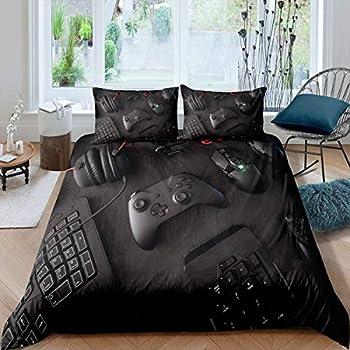 HMT NF Gamepad Bedding Set for Boys Kids Full Modern Gamer Video Game Controller Duvet Cover Set 1 Duvet Cover with 2 Pillowcases Full Size