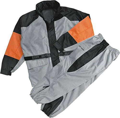 NexGen Men's Rain Suit (Black/Silver, 4X-Large)