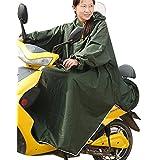 haruju レインコート レインポンチョ ロングポンチョ バイク 自転車 車いす (グリーン)