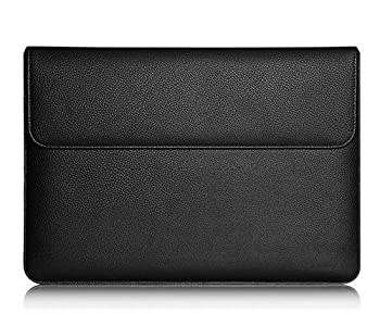 Leather Protective Sleeve Bag Carrying Case for Microsoft Surface Pro 6 12.3 / Surface Pro LTE Advanced/Google Pixel Slate/Samsung Galaxy Book 12 / New iPad Pro 2018 III 12.9 in/HP Elite x2