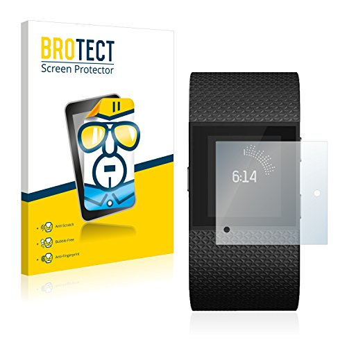 BROTECT Schutzfolie kompatibel mit Fitbit Surge (2 Stück) klare Bildschirmschutz-Folie