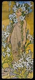 CANVAS Blond Fashion Girl Lily Flowers 1897 by Alphonse Mucha 14