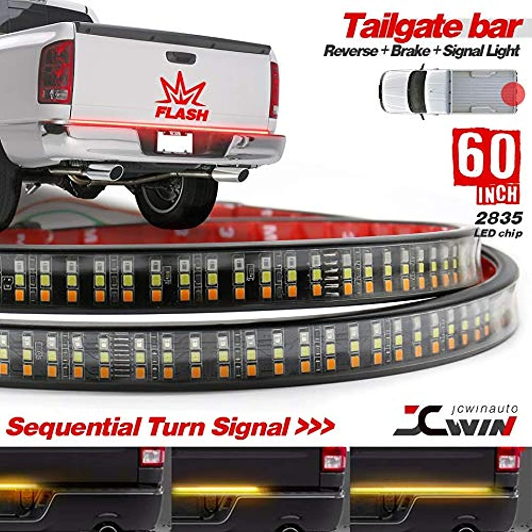 60 inches Tailgate strobe brake light with sequential turn signal light strip