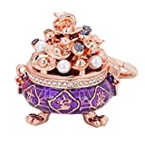 Fan-Ling Chinese Style Creative Cornucopia Car Key-Chain Bag Pendant Pendant Jinding Small Gift,Key Ring, Cell Phone Chain, Pendant Holder,Bag Pendant Car Accessory (Purple)