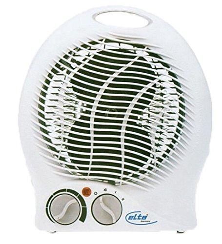Elta Heizlüfter HZ-9720 (2000 Watt, Heizen und Kühlen, Zwei Stufenheizung, Thermostat, Sicherheitsabschaltung)