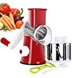 Best Cheese Shredders - Ourokhome Manual Rotary Cheese Grater - Round Tumbling Review