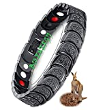 N3 ZELEK Magnetic Bracelet Men Stress Relief STRONG MAGNET BIO THERAPY Bracelet Health Men Magnetic Bracelets for Arthritis Pain Relief Migraine Relief Men Women Magnetic Wristband Bangle Men
