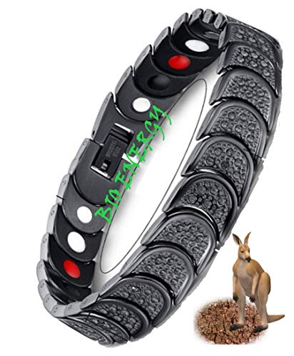 N3 ZELEK Magnetische Armband Mannen Stress Relief STRONG MAGNET BIO THERAPY Armband Gezondheid Mannen Magnetische Armbanden voor Artritis Pijn Relief Migraine Relief Mannen Vrouwen Magnetische Polsband Bangle Mannen