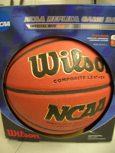 Great Features Of Wilson NCAA Replica Game Ball Official Size 29.5 Indoor / Outdoor Moisture Absorb...