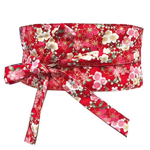 Fancy Pumpkin Cintura d epoca giapponese Yukata Kimono Robe Obi cintura Harajuku-D10