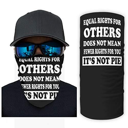 CCMugshop Bandanas Face Gaiter igualdad para otros no significa menos derechos para usted, no Pie Print Headwear UV White One Size