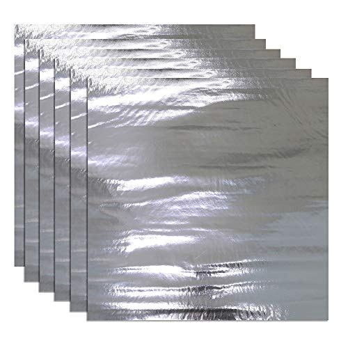 236mil Heat Shield Sound Deadener Deadening Heat Insulation Mat Noise Insulation and Dampening Mat Heat Proof Mat 6 Sheet 20'' x 20''