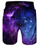 uideazone Mens 3D Galaxy Printed Funny Swim Trunks Quick Dry...