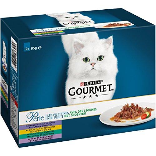 Gourmet Perle pasto per gatto adulto, Taglia & Sapore a scelta–12 x 85 g