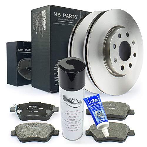Bremsen/Bremsscheiben + Bremsbeläge vorne + Bremsenreiniger + Plastilube NB PARTS GERMANY 10046482