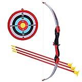 Rolanli Arco y Flecha para Niños, 5 Piezas Arco y Flechas Niños Set con 1 Arco, 3 Flechas y 1 Objetivo