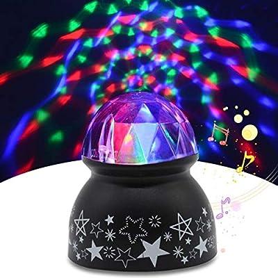 Yocuby Disco Light Ball Sound Activated Party Lights,Dj Lighting,RBG Disco Ball,Strobe Lamp Stage Par Light for Dance Parties Birthday DJ Bar Wedding Show Club Pub Great Gift (Black-Voice Control)