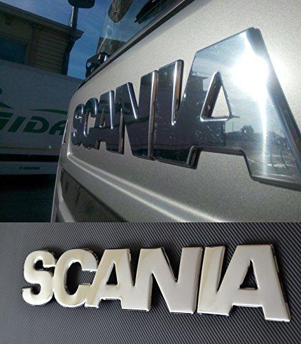 1 x en relief 3d en acier inoxydable poli miroir Scania R 2010?2016 avant Sign badge Coque