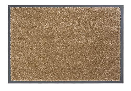 ASTRA strapazierfähiger Schmutzfang Perle – rutschfeste Türmatte – Fußmatte für den Innenbereich – Eingangsmatte – Vorleger (Hellbraun, 40x60cm)