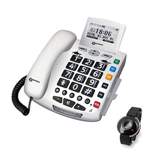 Geemarc Teléfono De Emergencia (40 Db) con El Nuevo Brazalete De Emergencia