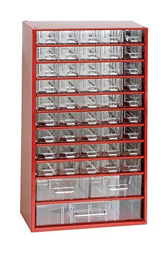Mars Svratka Schubladen für Magazin, Stahl, Rot, One Size