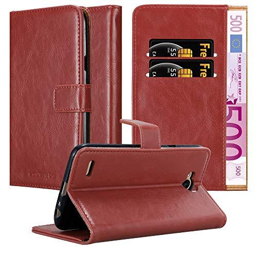 Cadorabo Custodia Libro per LG X Power 2 in ROSSO VINACCIA - con Vani di Carte, Funzione Stand e Chiusura Magnetica - Portafoglio Cover Case Wallet Book Etui Protezione
