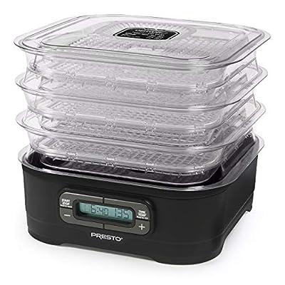 National Presto Dehydro Digital Electric Food Presto Dehydrator, Up to 12 Trays, Black