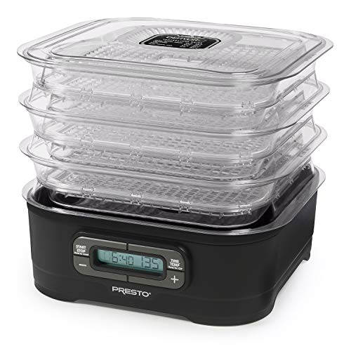 National Presto Dehydro Digital Electric Food Presto Dehydrator, Up to 12 Trays, Black
