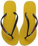 Havaianas Slim Brasil Logo, Chanclas para Mujer, Amarillo (Banana Yellow), 39/40 EU
