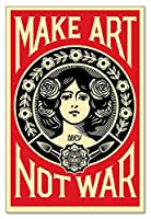 ポスター オベイ Male Art Not War/Shepard Fairey 手書きサイン入り