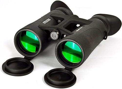 CCQOPP Jumelles Vision Nocturne Nocturne miroitante portative de Jumelles extérieures de Fort grossissement 8x42 Noir allant télescope
