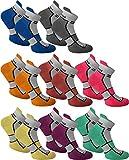 normani 6 Paar Sneaker Running Laufsocken Funktionssocken mit Frotteesohle und Stützfunktion Farbe Excalibur Größe 43/46