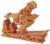 Générique Puzzle 3D skieur-l.20X H. 15.5cm, Madera, marrón, 21x 16x 3,5cm