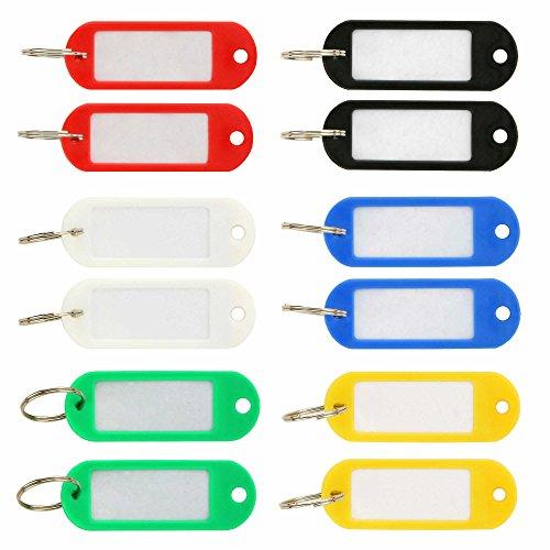 Schlüsselschilder zum Beschriften 12 Stück, 6 Farben