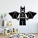 Livraison Gratuite Batman Décoratif Autocollant Imperméable À La Maison Décor Imperméable Stickers Muraux Diy Décoration de La Maison Vinilo ParéRoseSoupleXL57 cmX80 cm